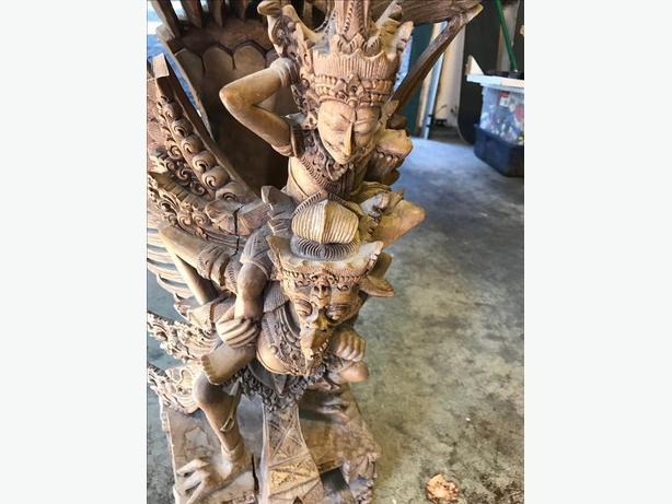 hindu wood/teak carving from bali