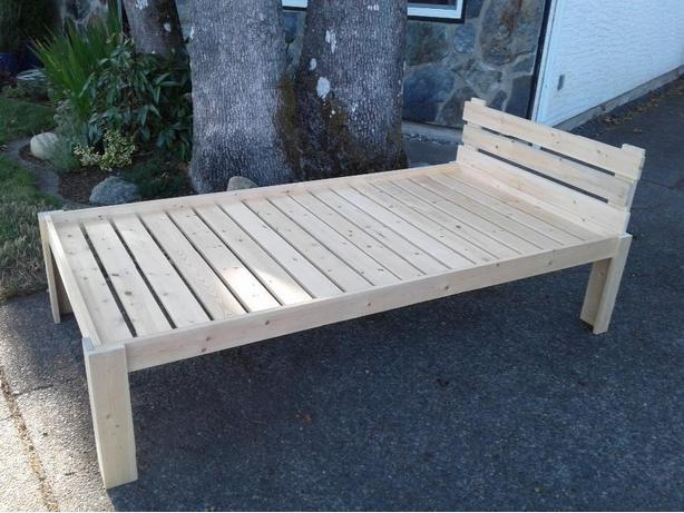 Solid pine twin frame