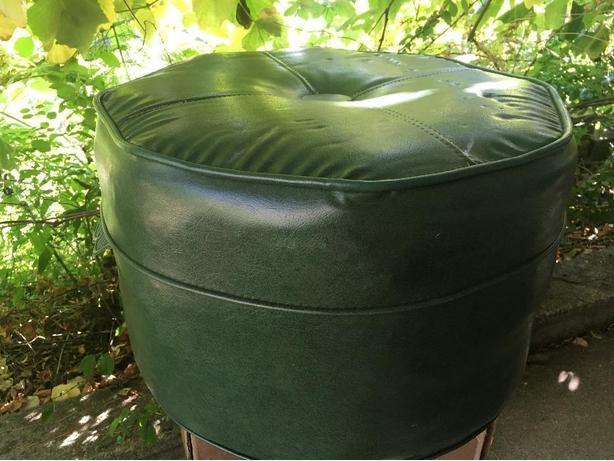 Vintage green ottoman