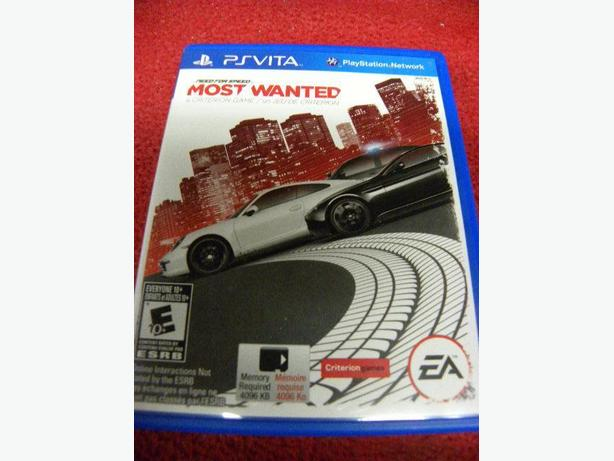 Need For Speed Most Wanted for the PS Vita console