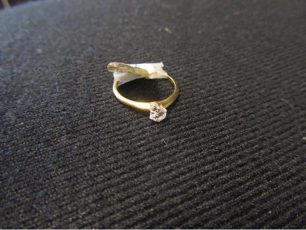 Size 5 Solitaire Diamond Ring
