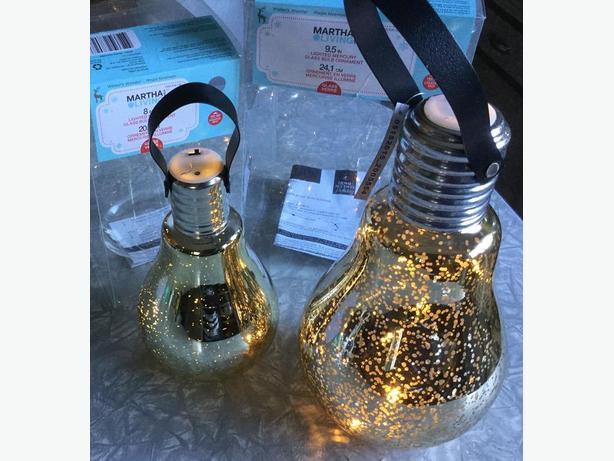 MERCURY GLASS BULB LAMP