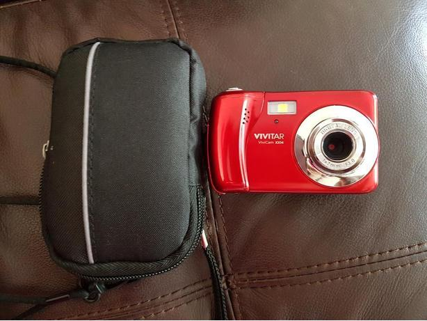 Vivitar Red Camara in a Black Case