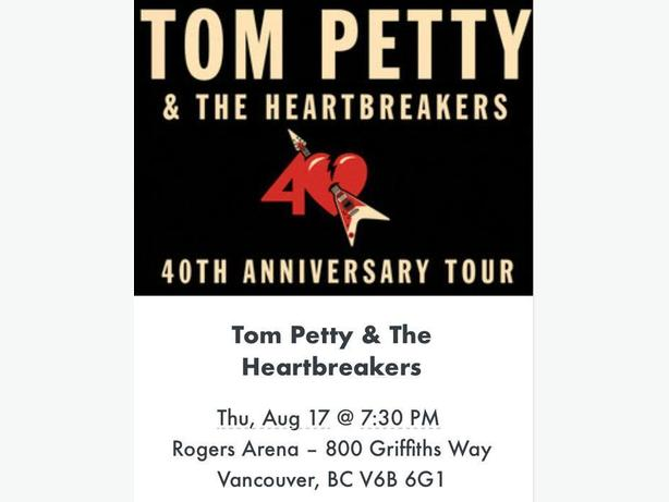 Tom Petty with the Lumineers in Vancouver