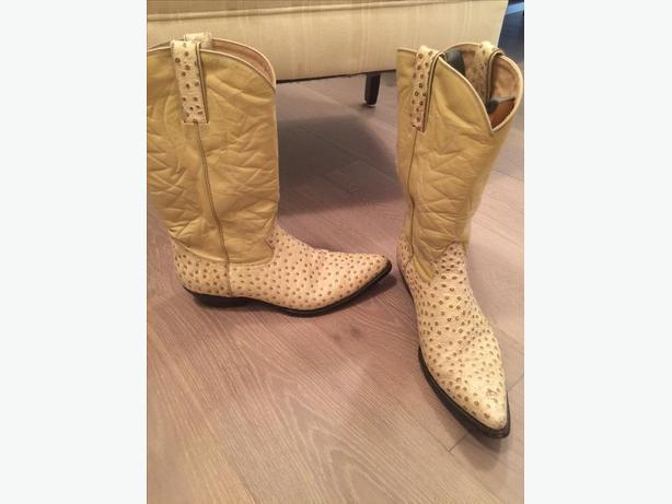 Ostrich Skin Western Boots