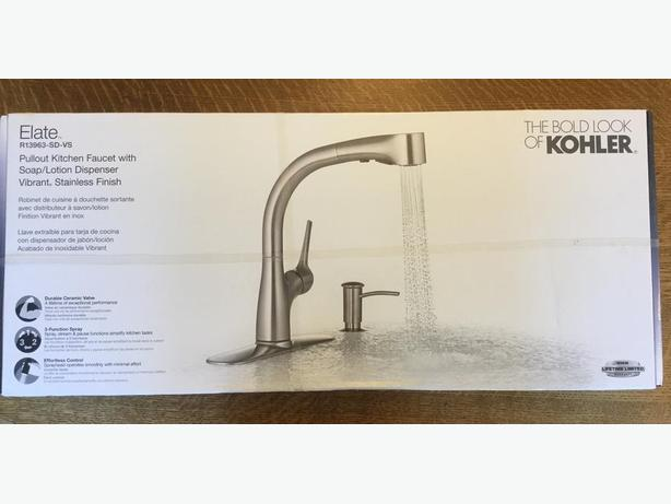 Kohler Elate - pull-out kitchen faucet - stainless steel, new in box.