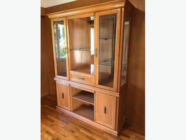 Solid Oak Hutch & Buffet Set