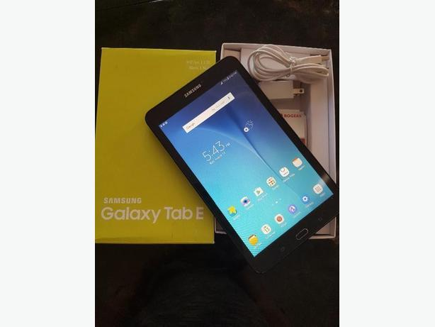 Like new in box Samsung galaxy tab E 16 gb + Lte Rogers