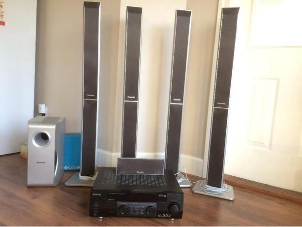 Kenwood VR407 receiver and home theater Panisonic speakers with sub