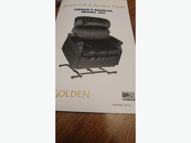 golden PR 502 Power Lift Chair for sale