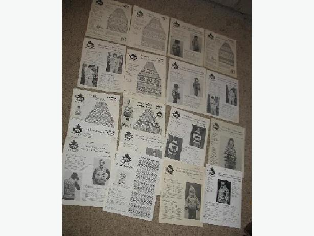 White Buffalo Knitting patterns - lot of 18
