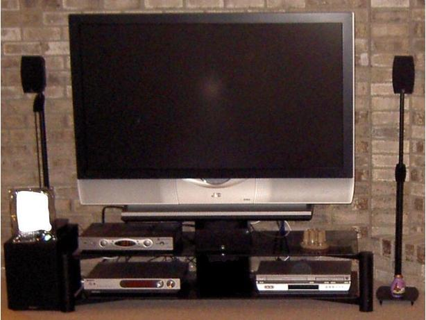 "52"" JVC Projection TV with Rotating Stand, Surround Sound System and DVD Player"
