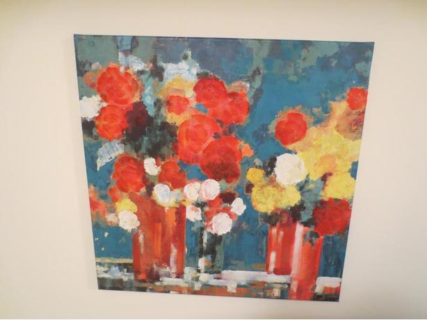 Canvas Flower Painting