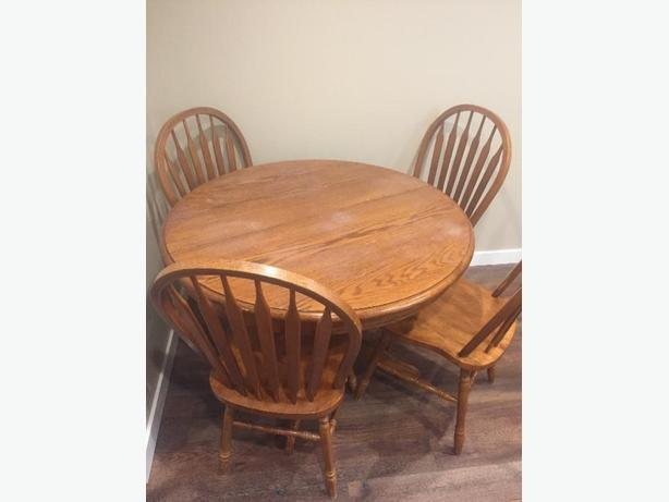Oak Table and Four Chairs - $100 OBO