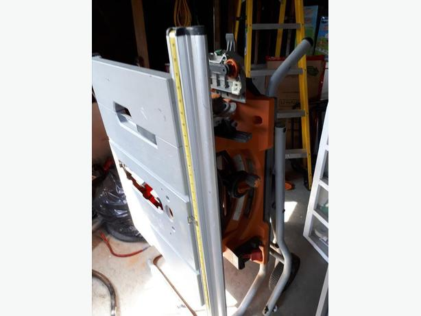 """Ridgid 10"""" table saw for parts"""