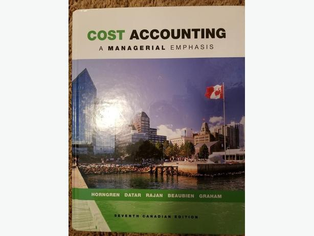 Managerial Cost Acct 7th Edition (Acct 320 + 420)