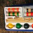6 player wooden croquet set