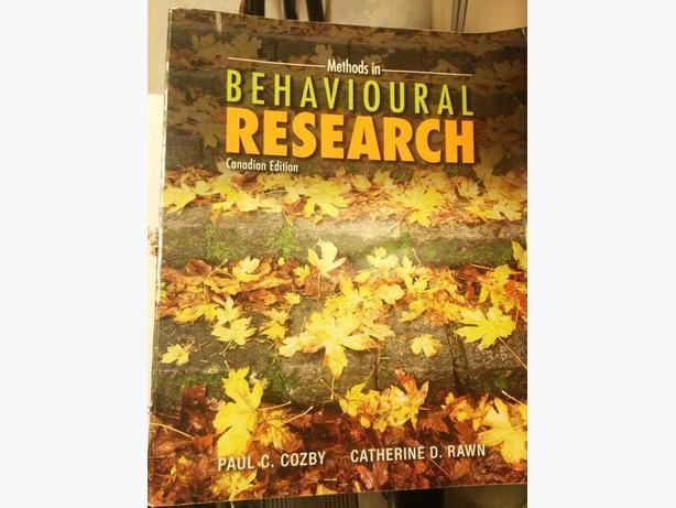Methods in Behavioural Research Cdn Ed