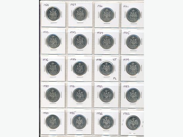 Year Set of 50 Cent Coins from 1968 to 2007