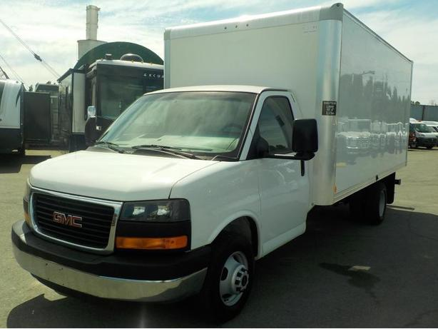 2013 GMC Savana G3500 Dually 16 Foot Cube Van with Ramp