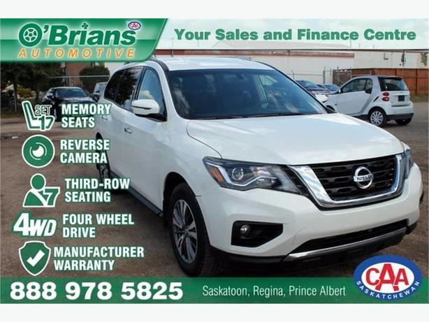 2017 Nissan Pathfinder SV - w/Mfg Warranty, Third-row