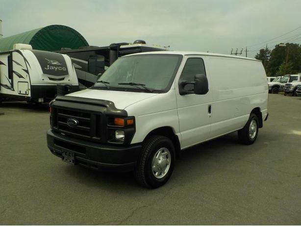 2010 Ford Econoline E-250 Cargo Van with Rear Shelving and Bulkhead Divider