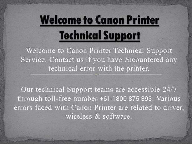 Dial  Toll-free 61-1800-875-393 Canon Printer Telephone Number