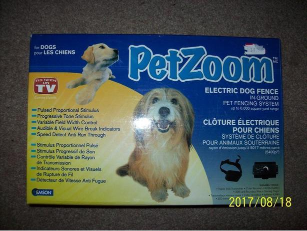 Pet Zoom -  Electric Dog Fence   NEW IN BOX !!!