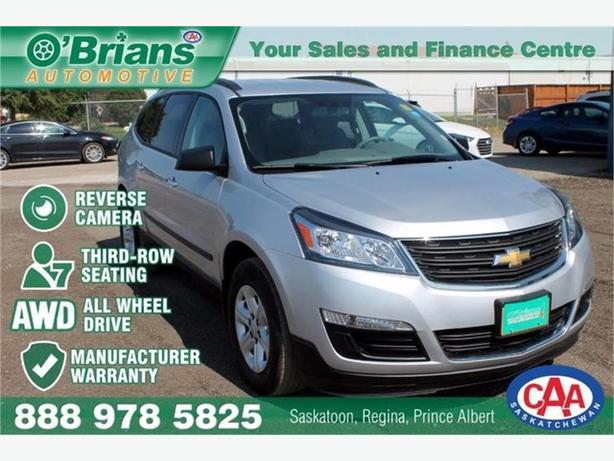 2017 Chevrolet Traverse LS w/Mfg Warranty, Third-row, AWD