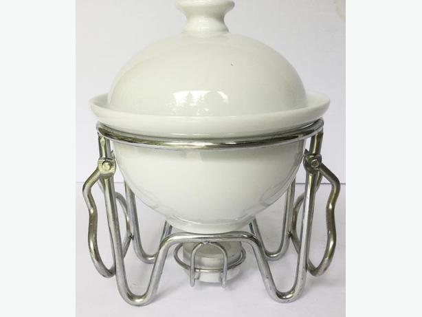 Lovely Small Ceramic Fondue Warmer