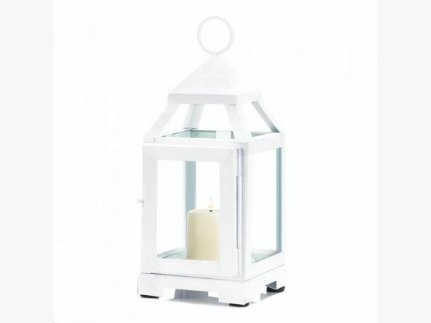 "Small White Candle Lantern 8"" Tall 5 Lot Brand New"