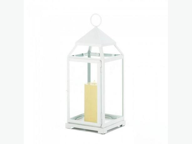 White Candle Lantern Centerpiece S/M/L 3 Lot Mixed Brand New