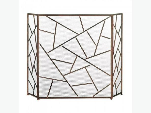 Modern Geometric Fireplace Screen 4 Designs Clover Diamond Choice NEW