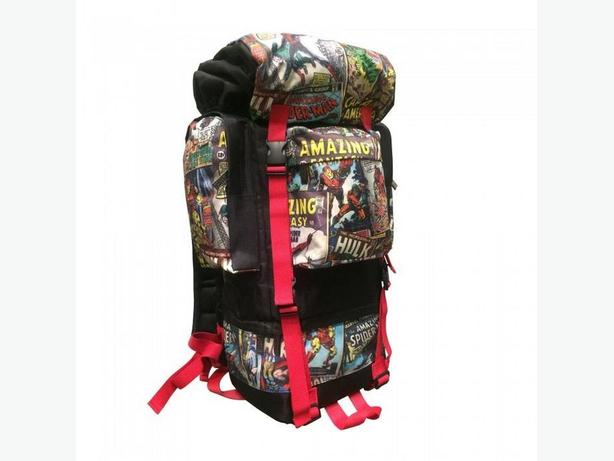 Retro Print Marvel Camping Hiking Backpack Adjustable Aluminum Frame NEW