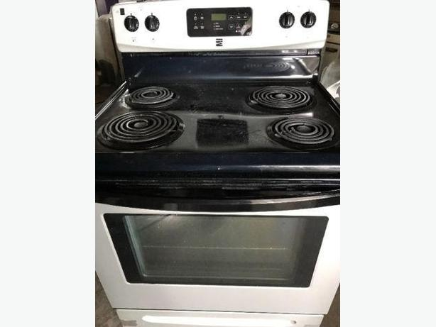 Kenmore Stainless & Black Stove