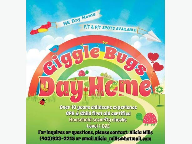 Saddleridge NE Giggle Bugs Day Home September Space