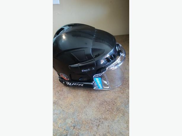 0aa7af4ece0 Reebok hockey helmet with Bauer half shield West Shore  Langford ...