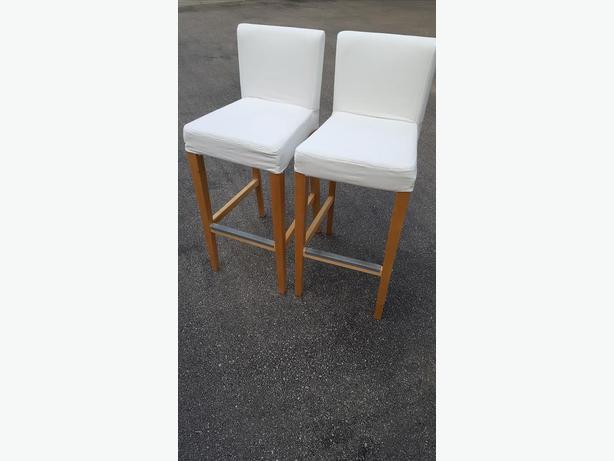 2 IKEA bar stools for sale
