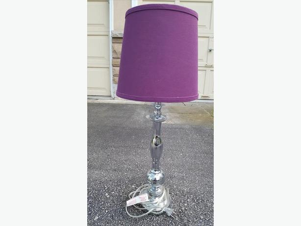 2 matching silver table lamps for sale