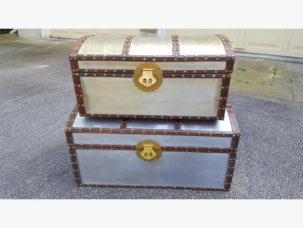 2 decorative storage chests for sale