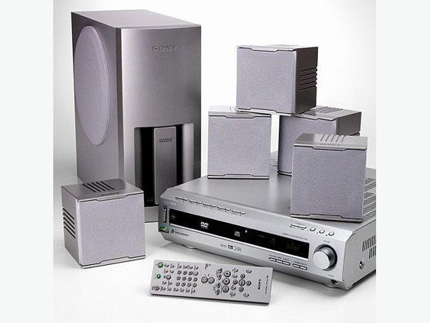 sony home theater surround sound system with 5 disc dvd. Black Bedroom Furniture Sets. Home Design Ideas