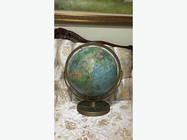Readers Digest Vintage Globe