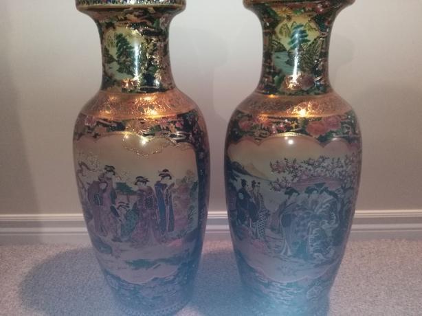 2 Satsuma Vases Orleans Ottawa