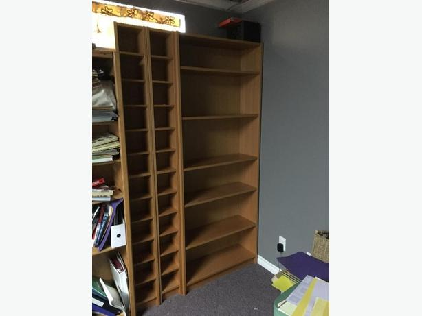 Billy bookcase with 2 slim shelving units