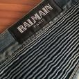 Pre-Owned Authentic Balmain blue Biker Jeans size 36