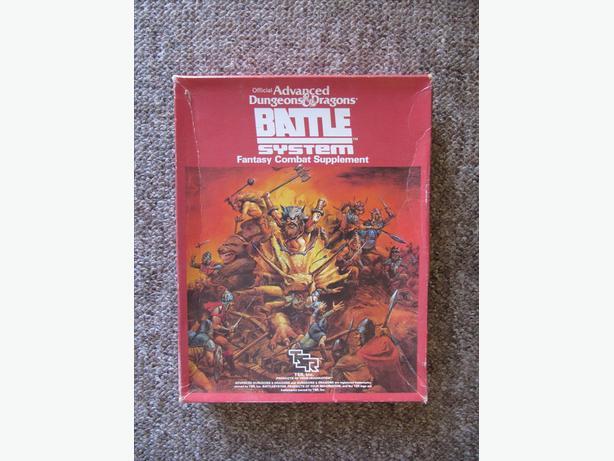 1985 Advanced D & D Battle System Boxed Set. COMPLETE. UNPUNCHED