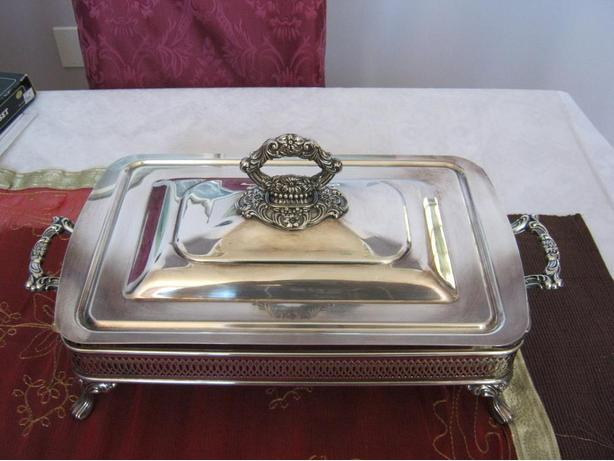 SILVER PLATED COVERED SERVING DISH.REDUCED,REDUCED