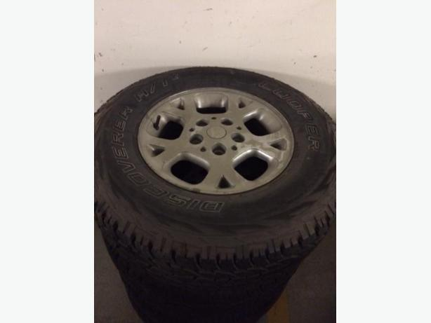 Cooper Discoverer A/T3 tires LIGHTLY USED