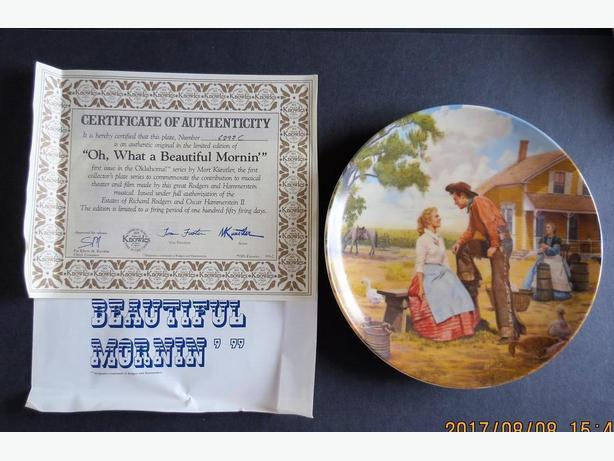 Oklahoma: Oh, What A Beautiful Mornin Collector Plate