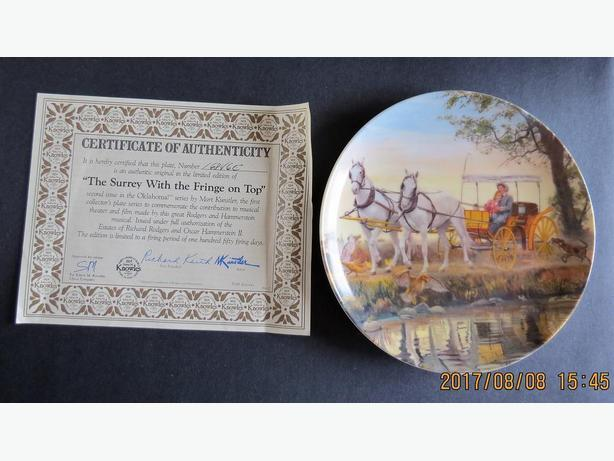Oklahoma: Surrey With The Fringe on Top Collector Plate